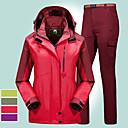 povoljno Pokloni za vjenčanje-Žene Planinarska jakna s hlačama Vanjski Pasti Zima Vjetronepropusnost Otporno na kišu Anatomski dizajn Otpornost na habanje Zimska jakna Cijeli Duljina Hidden Zipper Skijanje Penjanje Kampiranje