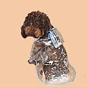 billige Hundeklær-Hunder / Katter Regnfrakk Hundeklær Fargeblokk / Enkel Hvit / Fuksia / Blå PVC Kostume For kjæledyr Unisex Vanlig / Vandtæt