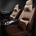 お買い得  3Dプリンターサプライ品-5つの座席と2つの枕と2つのウエストパッドベージュコーヒー4シーズンユニバーサルカーシートカバー/リネン素材/エアバッグ互換性/調整可能および取り外し可能