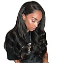 cheap Human Hair Wigs-Remy Human Hair Unprocessed Human Hair Full Lace Wig Layered Haircut Side Part style Brazilian Hair Body Wave Black Wig 130% Density with Baby Hair Natural Hairline For Black Women Unprocessed 100