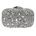 baratos Clutches & Bolsas de Noite-Mulheres Bolsas Liga Bolsa de Festa Detalhes em Cristal Estampa Geométrica Prata