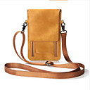 お買い得  ラップトップPCバッグ-女性用 ジッパー 携帯電話バッグ PU 純色 ブラック / フクシャ / Brown