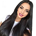 povoljno Perike s ljudskom kosom-Remy kosa Full Lace Lace Front Perika Asimetrična frizura Wendy stil Brazilska kosa Ravan kroj Prirodno ravno Natural Crna Perika 130% 150% 180% Gustoća kose s dječjom kosom Nježno Žene Jednostavan