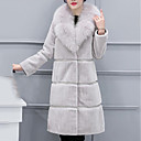 cheap Women's Heels-Women's Work Street chic / Sophisticated Plus Size Fur Coat - Solid Colored / Striped / Sexy