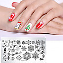 cheap Wedding Decorations-1 pcs Nail DIY Tools Template Cartoon Series Recyclable nail art Manicure Pedicure Stylish Christmas