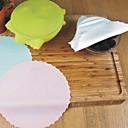 baratos Utensílios de Fruta e Vegetais-1 pcs silicone tampa da bacia tampa preservativo filme reutilizável extensível recipiente de alimentos tampa do selo cozinha cozimento esteira ferramenta cor aleatória