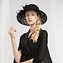 povoljno Kentucky Derby Hat-100% posteljine Kentucky Derby Hat / kape s Perje / Čipka 1pc Special Occasion / Zabava / večer Glava