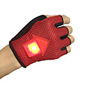 cheap Cycling Pants, Shorts, Tights-Sports Gloves Bike Gloves / Cycling Gloves Breathable Skidproof LED Lights Flashing Fingerless Gloves Terylene Silicon Cycling / Bike Men's Women's