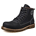 cheap Men's Boots-Men's Comfort Shoes Leather Fall & Winter Casual Boots Booties / Ankle Boots Black