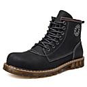 Недорогие Мужские ботинки-Муж. Комфортная обувь Кожа Наступила зима На каждый день Ботинки Ботинки Черный