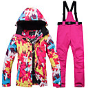 cheap Wooden Puzzles-ARCTIC QUEEN Women's Ski Jacket with Pants Windproof Warm Ski Skiing Snowboarding Winter Sports POLY Eco-friendly Polyester Pants / Trousers Tracksuit Top Ski Wear