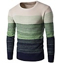 cheap Wedding Shoes-Men's Daily / Going out Basic Striped Long Sleeve Slim Long Pullover, Round Neck Fall / Winter Blue / Green / Wine L / XL / XXL