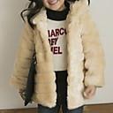 olcso Lány dzsekik és kabátok-Gyerekek Lány Alap Egyszínű Hosszú ujj Műszőrme Öltöny és blézer Fekete