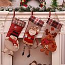 olcso Party tartozékok-Karácsony / Party / estély Fél kiegészítők Díszítések / Kedvez dekoráció Karácsony / Mikulás ruhák / Jávorantilop Farmeranyag / Flanel
