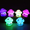cheap Night Lights-1pc LED Night Light Colorful Mushroom Room Desk Bedside Lamp for Baby Kids Christmas Gifts Random Color