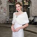 billige Brudesjaler-Uden ærmer Imiteret pels Bryllup / Fødselsdag Wraps til damer Med Krystalblomsternål Kappe