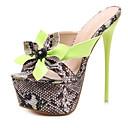 abordables Sandalias de Mujer-Mujer Zapatos Confort PU Primavera Sandalias Tacón Stiletto Negro / Verde