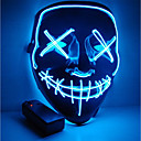 cheap Sexy Uniforms-Halloween Mask Motorcycle Mask LED Illuminated Party Mask Clear Election Year Great Funny Mask Festival Cosplay Costume Supplies Glow in The Dark