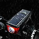ieftine Lumini de Bicicletă-Lumina cornului de bobină LED Lumini de Bicicletă Ciclism Rezistent la apă, Portabil, Eliberare rapidă Baterie reîncărcabilă 350 lm Baterie Încărcată / Încărcare Solară Alb Ciclism