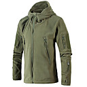 cheap Softshell, Fleece & Hiking Jackets-Men's Hiking Fleece Jacket / Hiking Jacket Outdoor Windproof, Breathability, Wearable Fleece Winter Jacket Single Slider Military / Camping / Hiking / Caving / Travel