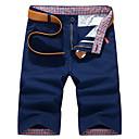 tanie Samochodowy odtwarzacz  DVD-Męskie Moda miejska Typu Chino / Szorty Spodnie - Solidne kolory Niebieski