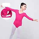 preiswerte Kindertanzkleidung-Ballett Turnanzug Mädchen Training / Leistung Elastan / Lycra Überkreuzte Rüschen Langarm Gymnastikanzug / Einteiler