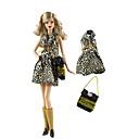 baratos Marionetes-Vestidos Calças / Blusa Para Boneca Barbie Café Tecido TNT / Pano Demin Vestido Para Menina de Boneca de Brinquedo
