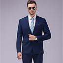 preiswerte Hemden-Solide Reguläre Passform Polyester Anzug - Fallendes Revers Einreiher - 1 Knopf