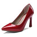 זול נעלי עקב לנשים-בגדי ריקוד נשים PU אביב עקבים עקב סמוי שחור / בז' / אדום