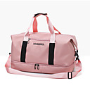cheap Totes-Oxford Cloth Solid Color Travel Bag Zipper Solid Color Red / Gray / Pink