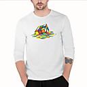 billige Tåkelys til bil-Rund hals T-skjorte Herre - Tegneserie Gatemote Rubiks kube