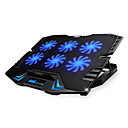 cheap Speakers-Adjustable LED Screen Smart Control Laptop Cooling Pad with 5 Fans