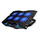 halpa Telineet ja jäähdytyslevyt-säädettävät LED-näyttö älykäs ohjaus kannettavan jäähdytys pad 5 fania