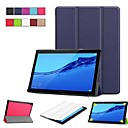 cheap Cellphone Case-Case For Huawei Huawei Mediapad T5 10 / MediaPad T3 10(AGS-W09, AGS-L09, AGS-L03) with Stand / Flip / Origami Full Body Cases Solid Colored Hard PU Leather for Huawei Mediapad T5 10 / Huawei MediaPad