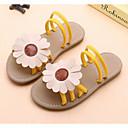 저렴한 자석 장난감-여아 구두 인조 가죽 여름 조명 신발 샌들 꽃패턴 용 아동 블랙 / 옐로우 / 핑크