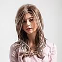 hesapli Sentetik Kapsız Peruklar-Sentetik Peruklar Kadın's Derin Dalga Ombre Orta kısım Sentetik Saç 20 inç Düz / Yeni gelen / Ombre Saç Ombre Peruk Orta uzunluk Bonesiz Kahverengi / Beyaz MAYSU / Doğal saç çizgisi