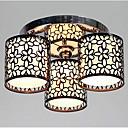 povoljno Softshell, flis i jakne za planinarenje-Lightinthebox 3-Light Flush Mount Ambient Light Slikano završi Metal Fabric Mini Style 110-120V / 220-240V Bulb not included / E26 / E27