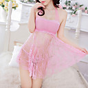 お買い得  バスローブ & ナイトウェア-女性用 スカート - ソリッド バックレス ブラック ピンク パープル フリーサイズ / ホルター / スーパーセクシー