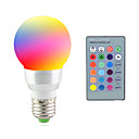 billige LED-lyspærer-2W 2700-7000 lm E14 E26/E27 LED-scenelys 1 leds Høyeffekts-LED Dekorativ Fjernstyrt RGB AC 85-265V