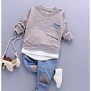 billige Sett med Gutter babyklær-Baby Gutt Grunnleggende Daglig Ensfarget Langermet Normal Normal Bomull / Polyester Tøysett Grønn