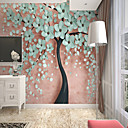 abordables Murales-papel pintado / Mural Lona Revestimiento de pared - adhesiva requerida Floral / Art Decó / 3D