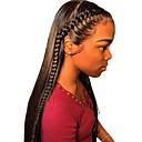 povoljno Perike s ljudskom kosom-Remy kosa Netretirana  ljudske kose 13x6 Zatvaranje Prednji dio duboke čipke Lace Front Perika Duboko udaljavanje Stražnji dio stil Brazilska kosa Ravan kroj Silky Straight Natural Perika 150% 250
