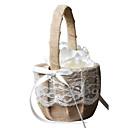 """cheap Flower Baskets-Flower Basket Cotton / Linen 4 1/3"""" (11 cm) Lace 1 pcs"""