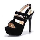 ieftine Sandale de Damă-Pentru femei Sintetice Vară Sandale Toc Stilat Vârf deschis Paiete / Ținte / Cataramă Negru / Rosu / Albastru / Party & Seară / Bloc Culoare