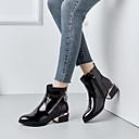 hesapli Kadın Botları-Kadın's Ayakkabı PU Sonbahar Kış Günlük Çizmeler Düşük Topuk Yuvarlak Uçlu Bootiler / Bilek Botları Günlük için Siyah / Mavi / Kırmızı Şarap / Leopar