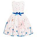 preiswerte Kleider für Mädchen-Kinder Mädchen Grundlegend Blumen Ärmellos Kleid Weiß