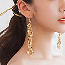 povoljno Naušnice-Žene Klasičan Viseće naušnice Naušnice Jednostavan Moda Jewelry Zlato / Pink Za Dnevno Spoj 1 par