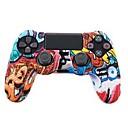 baratos Acessórios para PS4-TOYILUYA Kits de controle de jogo Para Sony PS4 ,  Criativo / Cores Gradiente / Engraçado Kits de controle de jogo Silicone 1 pcs unidade