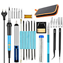 cheap 3D Printer Parts & Accessories-60W 220V 110V 60W Adjustable Temperature Electric Soldering Iron Kit5pcs Tips Digital Soldering Iron Portable Welding Repair Tool