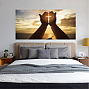 cheap Rolled Canvas Paintings-Decorative Wall Stickers - 3D Wall Stickers Landscape / Religious Bedroom / Kids Room